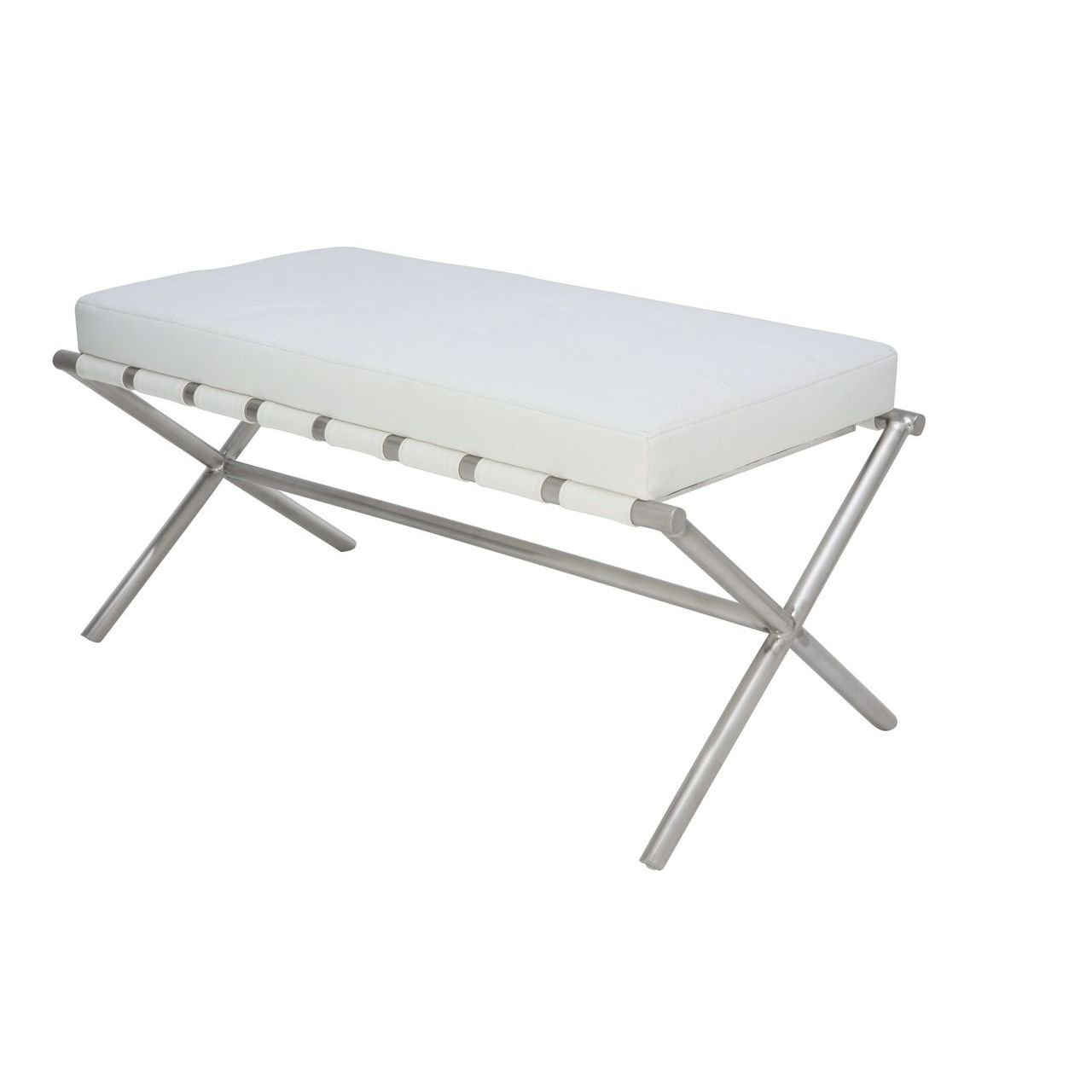 Auguste Small Bench White Modern Bench By Nuevo Ebpeters Modern Furniture